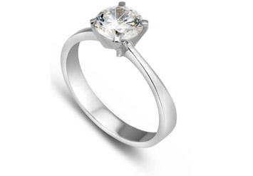 טבעת אירוסין סוליטר 1 קאראט! מבית סמל תכשיטים המפורסם, במחיר...