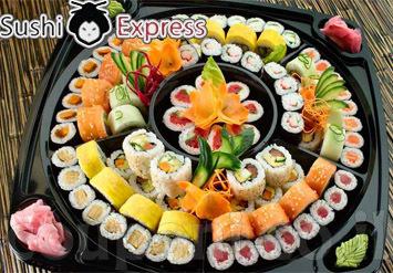 מגש מסיבה מדליק שיתאים לכל אירוח הכולל 120 יחידות סושי! 60 י...