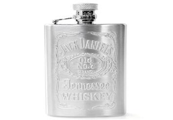 פלסק של ג'ק דניאלס לאיחסון אלכוהול, מתנה נהדרת! מכיל כ150 מ