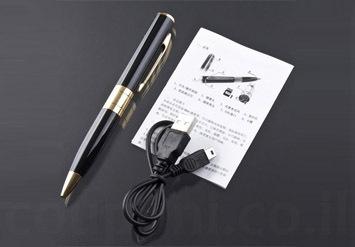 עט מצלמה / ריגול בעל אחסון 8GB ואיכות HD! עט יוקרתי, פשוט ות...