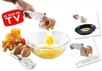די ללכלוך במטבח! שובר ומפריד ביצים EZCracker! מתאים גם לביצים רכות וגם לקשות וב39 ש