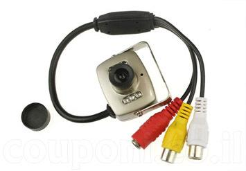 מצלמת אבטחה קטנה לבית או לעסק, כוללת הקלטת קול, ראיית לילה, ניתן להשתמש כמצלמה נסתרת וסמויה! ב89 ש