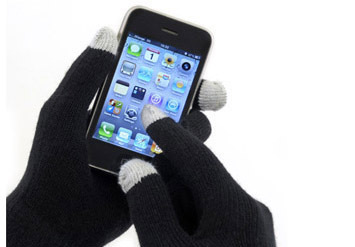 כפפות מגע לחורף עם קצות אצבעות מיוח...