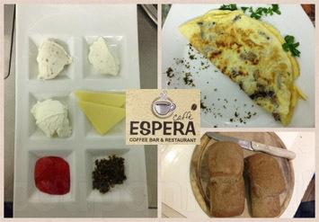 ארוחת בוקר זוגית עשירה ומשובחת הכוללת ביצים, סלטים, גבינות, ...