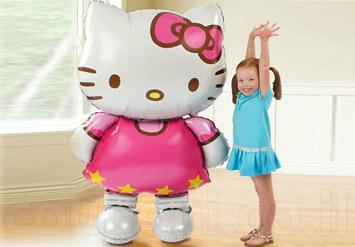 בלון הלו קיטי ענק במיוחד לשמח את הילדים והמבוגרים כאחד!ניתן למלא באוויר או בהליום רק ב28 ש