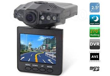 מצלמה לרכב בעלת יכולת הקלטה DVR, מסך LCD צבעוני 2.5