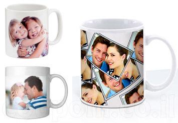 כוס/ ספלאיכותיבעיצוב אישיובהדפסה של תמונה לבחירה + הקדשה ב29 ש
