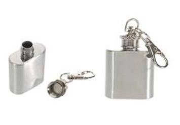 פלסק / בקבוקון לאיחסון אלכוהול או שתייהבמחזיק מפתחות, ...