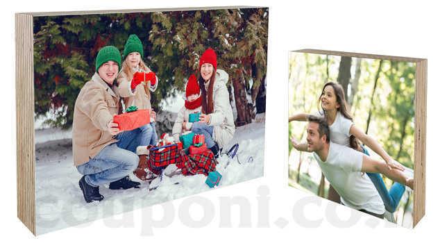 בלוק עץ בעיצוב אישי עם הדפסת תמונה אישית וטקסט הקדשה לבחירה ...