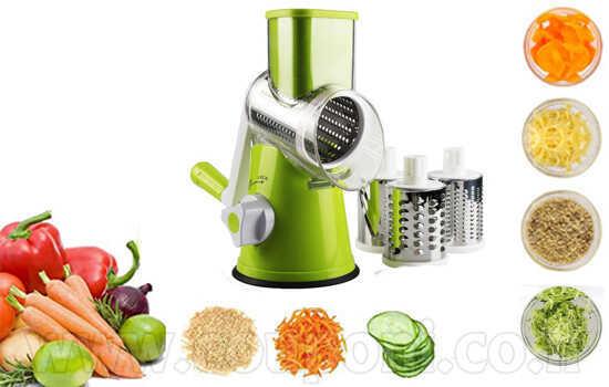 פומפיה אוטומטית רב תכליתית לחיתוך וגירוד מהיר ונוח של ירקות,...