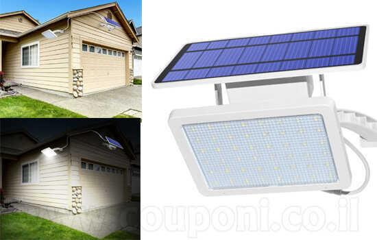 מנורה סולארית עם תאורה של 48 נורותלד! מצוין למקומות חשוכים, כניסות, גינות, חניות וכו' ב299 ש