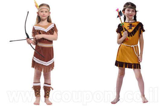 תחפושת אינדיאנית לילדות ב129 ש