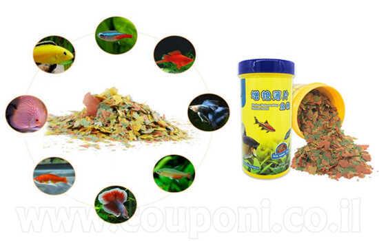 מזון / אוכל לדגים פתיתים דפים פלקס ...