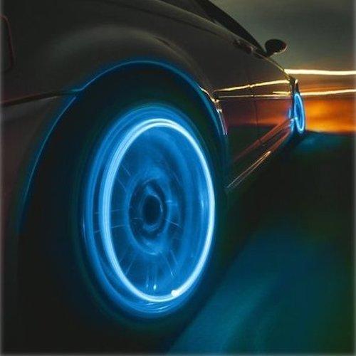 זוג נורות LED לגלגלי האופנוע, הרכב או האופניים! מדליק וגם בט...