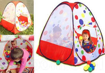 אוהל כדורים צבעוני, איכותי ומהנה לילדים! כולל 100 כדורים צבע...