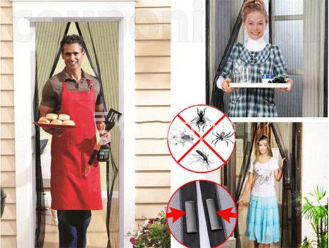 וילון הקסם המגנטי לדלת נגד יתושים, מעופפים ושאר חרקים! נסגר אוטומטית! ב49 ש