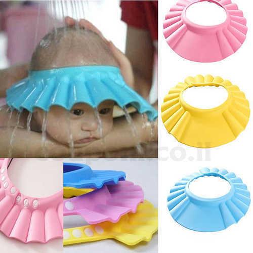 כובע מקלחת לתינוק לרחצה ללא דאגות, מונע חדירת מים, שמפו, סבו...