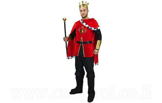 תחפושת מלך מימי הביניים למבוגרים ב1...