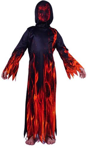 תחפושת שטן אש להבות לילדים / ילדות ב129 ש