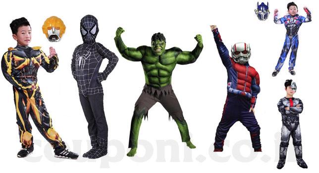 תחפושת גיבורי על לילדים אנטמן / הענק הירוק / רובוטריקים ועוד...