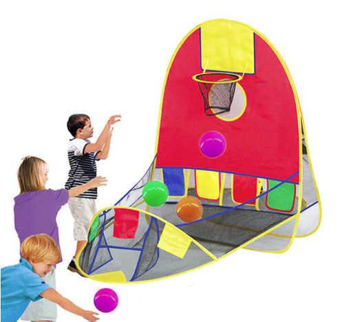 אוהל כדורים משחק כדורסל צבעוני, איכותי ומהנה לילדים! לשימוש בבית או בחוץ ב99 ש