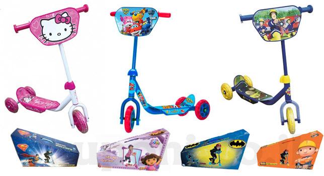 קורקינט לילדים בעל 3 גלגלים במבחר דגמים ודמויות מוכרות ואהוב...